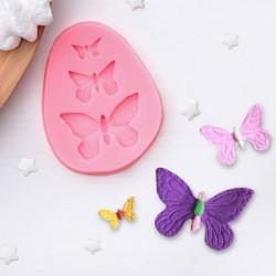 Молд силиконовый «Бабочки», 7,5x6x1 см, цвет МИКС