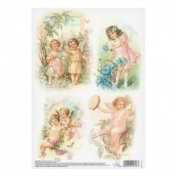 Декупажная карта «Ангелочки», 21 x 29,7 см