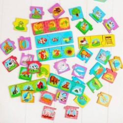 Набор 'Мама, малыш, жилище', (пазл-тройной), элемент 5,5 x 5,5 см, 16 мини-пазлов