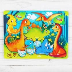 Головоломка «Прогулка с динозаврами», 20см x 27см