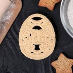 Форма для вырезки теста «Пасхальное яйцо», 8,5x6,8 см