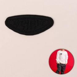 Термоаппликация «Spirit», 4,9 x 2,1 см, цвет чёрный (10 штук)