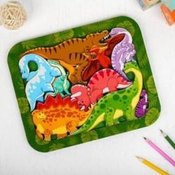 Зоопазл «Динозавры», 25 см x 20 см
