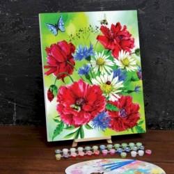 Картина по номерам на холсте с подрамником «Маки» 40x50 см