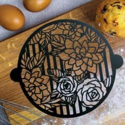 Трафарет для выпечки «Цветы», 30 x 35 см