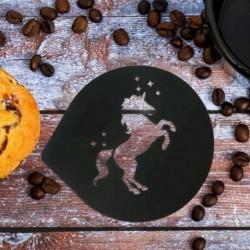 Трафарет для кофе «Единорог», 9,5 x 8,5 см