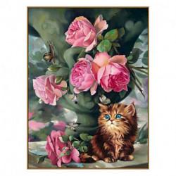 Алмазная мозаика «Утро в саду», 33 цвета, 30 см x 40 см