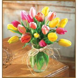 Алмазная мозаика «Букет тюльпанов», 35 x 35 см, 34 цвета