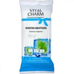 Vital Charm Влажные салфетки Феерия Ментола, (3 упаковки по 15 штук)