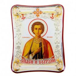 Икона в авто 'Святой целитель Пантелеимон' с клеящейся основой
