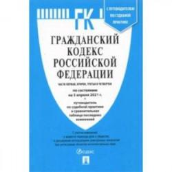 Гражданский кодекс РФ по состоянию на 05.04.2021 с таблицей изменений. Части 1-4