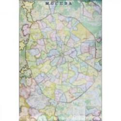 Настенная карта Москвы (1,07х1,57 м, в стиле 'экодизайн')