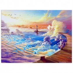Алмазная мозаика «Облачный маяк» 40 x30 см, 35 цветов