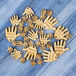 Набор бирок «Hand made», ладошки