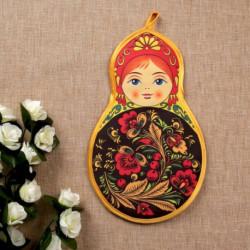 Прихватка «Матрёшка», хохлома, сувенирная, 29x20 см