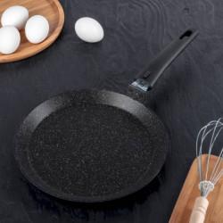 Сковорода блинная KUKMARA, d 24 см, антипригарное покрытие, цвет тёмный мрамор