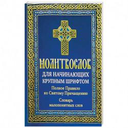Молитвослов для начинающих крупным шрифтом. Полное Правило ко Святому Причащению: словарь малопонятных слов