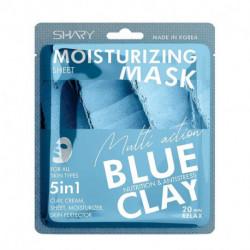 Shary  Увлажняющая тканевая крем-маска для лица 5 в 1 'Голубая глина'  25 г
