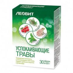 ЛEOВИТ Успокаивающие травы, 30 таб. по 0,55 гр.