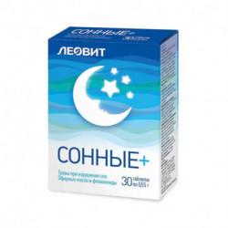 ЛEOВИТ  Сонные+, 30 таб по. 0,55 гр.