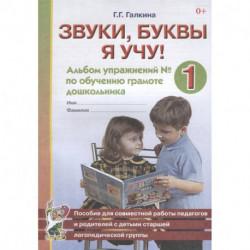 Звуки, буквы я учу! Альбом упражнений № 1 по обучению грамоте дошкольника. Пособие для совместной работы педагогов и