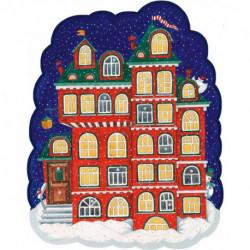 Пряничный домик с окошками. Календарь 2022