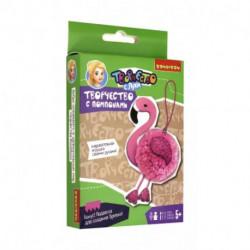 Набор Мини-творчество с помпонами. Фламинго