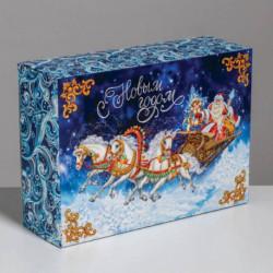Складная коробка «Тройка лошадей», 22x30x10 см