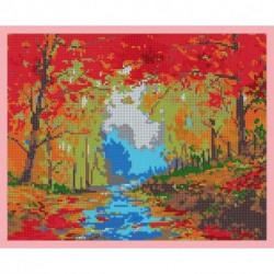 ВЛ-194П 'Осенний пейзаж' 30x24 см, набор для вышивания чешским бисером 'Вышивочка'