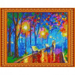 «Светлица» набор для вышивания бисером №400П «Прогулка под дождем» бисер Чехия, 38x30 см