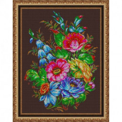 «Светлица» набор для вышивания бисером №528П «Жостовская композиция» бисер Чехия, 38x48 см