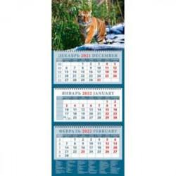 Календарь квартальный на 2022 год 'Год тигра. В Уссурийской тайге' (14211)