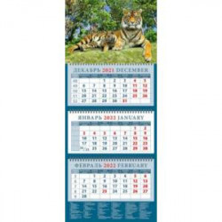Календарь квартальный на 2022 год 'Год тигра. Тигрица с тигренком' (14213)
