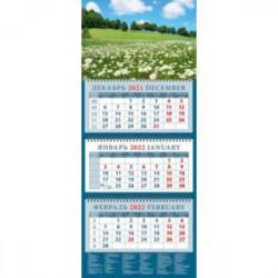 Календарь квартальный на 2022 год 'Летний пейзаж с ромашками' (14238)
