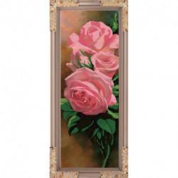 «Светлица» набор для вышивания бисером №148 «Розы» бисер Чехия 54,6x17,7 см