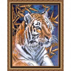 «Светлица» набор для вышивания бисером №181 «Тигр» бисер Чехия 19x24 см