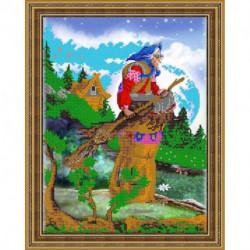 «Светлица» набор для вышивания бисером №385 «Бабуся Ягуся» бисер Чехия, 30x24 см