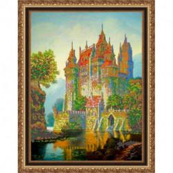 «Светлица» набор для вышивания бисером №346 «Замок» бисер Чехия 48,9x39,1 см