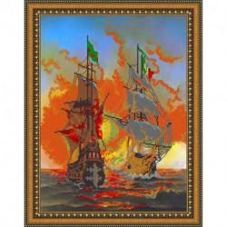 «Светлица» набор для вышивания бисером №374 «Корабли» бисер Чехия, 30x38 см