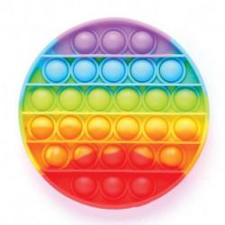 Тактильная сенсорная развивающая игрушка POP IT, круглая, радуга