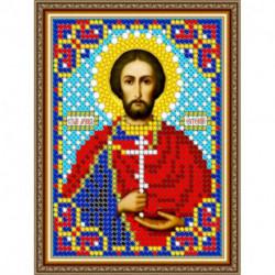 «Светлица» набор для вышивания бисером 8755ЛМ «Св. Евгений» бисер Чехия 7,5x10 см
