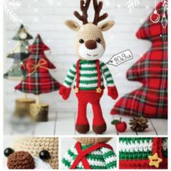 Новогодняя игрушка «Олень», набор для вязания, 15 x13 x 4 см