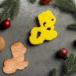 Форма для печенья и пряников «Тигрёнок», 11,5x7,5x1,5 см