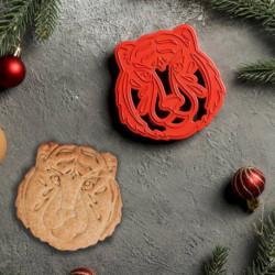 Форма для печенья и пряников «Тигр», 9,5x9,5x1,5 см