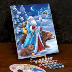 Картина по номерам на холсте с подрамником «Дед Мороз» 40x50 см