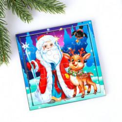 Пазл «Дед Мороз» 16 деталей