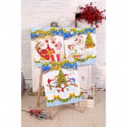 Набор вафельных полотенец в коробке «Зимняя сказка», 45x60см-3 шт
