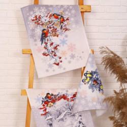 Набор полотенец рогожка Морозко (в коробке) 45x60см-3шт, хл100%, 170г/м2