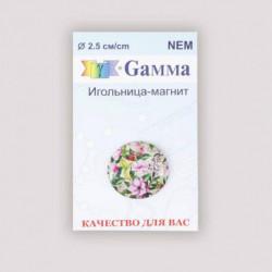 Игольница магнитная «Нежные цветы», d 2,5 см, цвет разноцветный