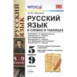 Русский язык в схемах и таблицах. 5-9 классы. Ко всем учебникам. ФГОС